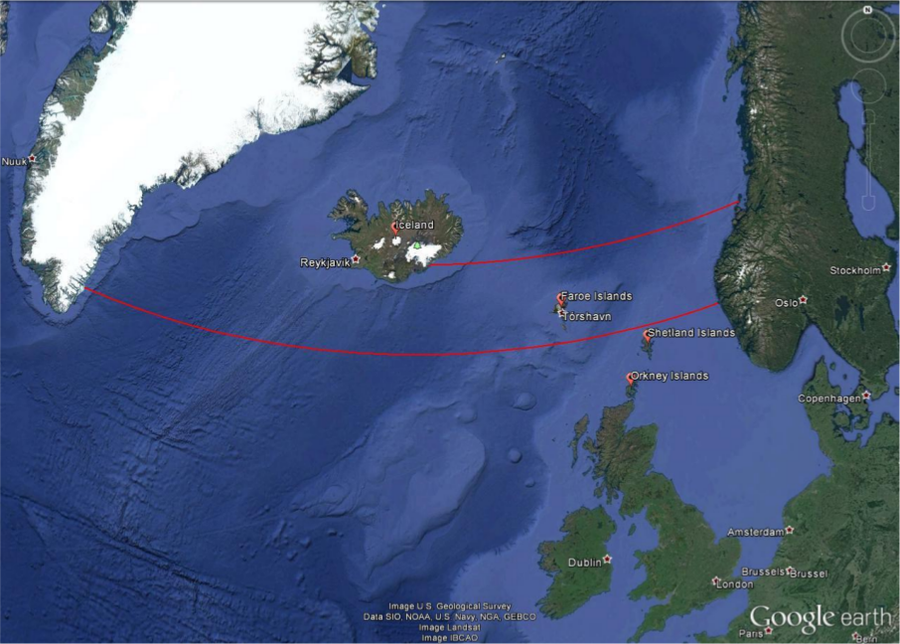 The Sun Compass Of The Vikings Educate Inspire Space Awareness - Iceland latitude